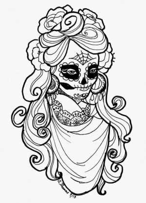 Free Dia De Los Muertos Coloring Pages to Print   rk86j