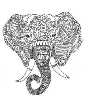 Free Difficult Animals Coloring Pages for Grown Ups   EW47