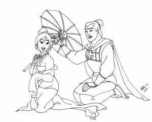 Free Disney Princess Mulan Coloring Pages for Girls   gr474