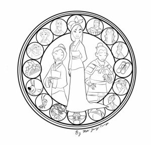 Free Disney Princess Mulan Coloring Pages for Girls   hb569