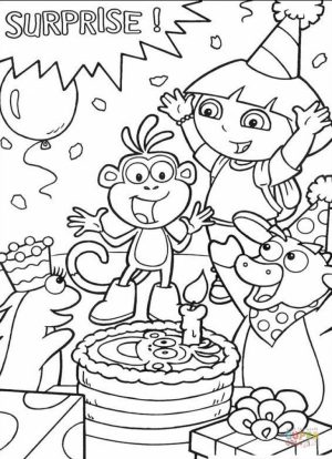 Free Dora The Explorer Coloring Pages   2srxq