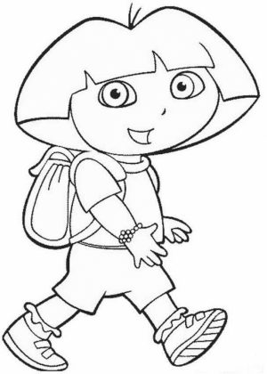 Free Dora The Explorer Coloring Pages to Print   rk86j