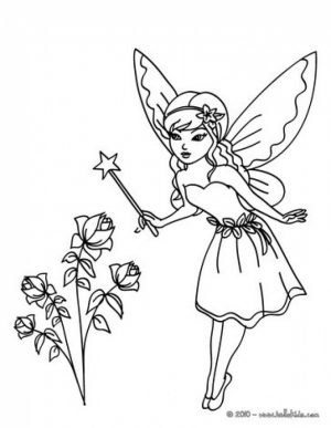 Free Fairy Coloring Pages to Print   22523