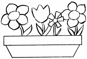 Free Flowers Coloring Pages to Print   2163