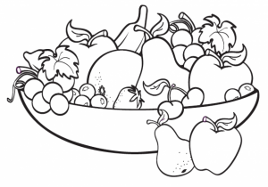 Free Fruit Coloring Pages   92895