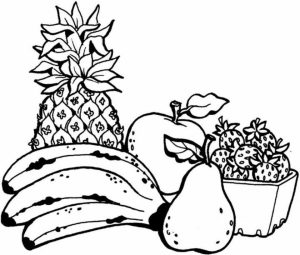 Free Fruit Coloring Pages to Print   18242