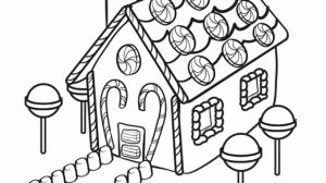 Free Gingerbread House Coloring Pages for Kids   ddpA0