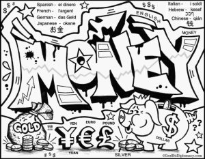 Free Graffiti Coloring Pages   17248