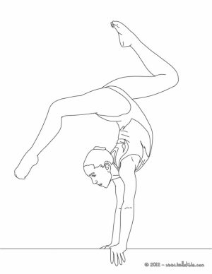 Free Gymnastics Coloring Pages   18fg10