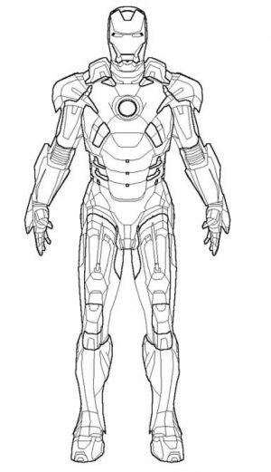 Free Ironman Coloring Pages to Print   12490