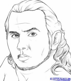 Free Jeff Hardy Coloring Sheets   TSBW7