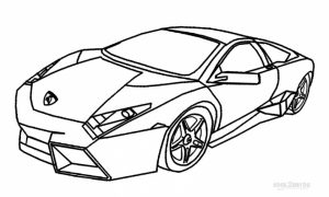 Free Lamborghini Coloring Pages   92377