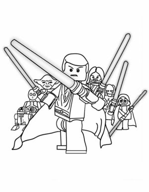 Free Lego Star Wars Coloring Pages   48926