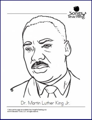 Free Martin Luther King Jr Coloring Pages for Toddlers   p97hr