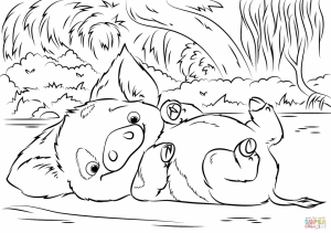 Free Moana Coloring Pages to Print   BH84Q