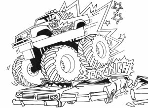 Free Monster Truck Coloring Pages   33676