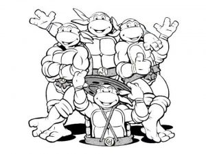 Free Ninja Turtle Coloring Page   17248