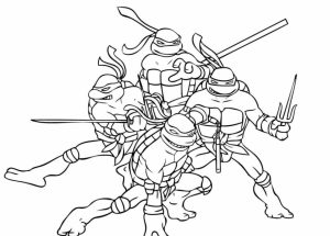 Free Ninja Turtle Coloring Page   92143