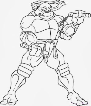 Free Ninja Turtle Coloring Page to Print   77417