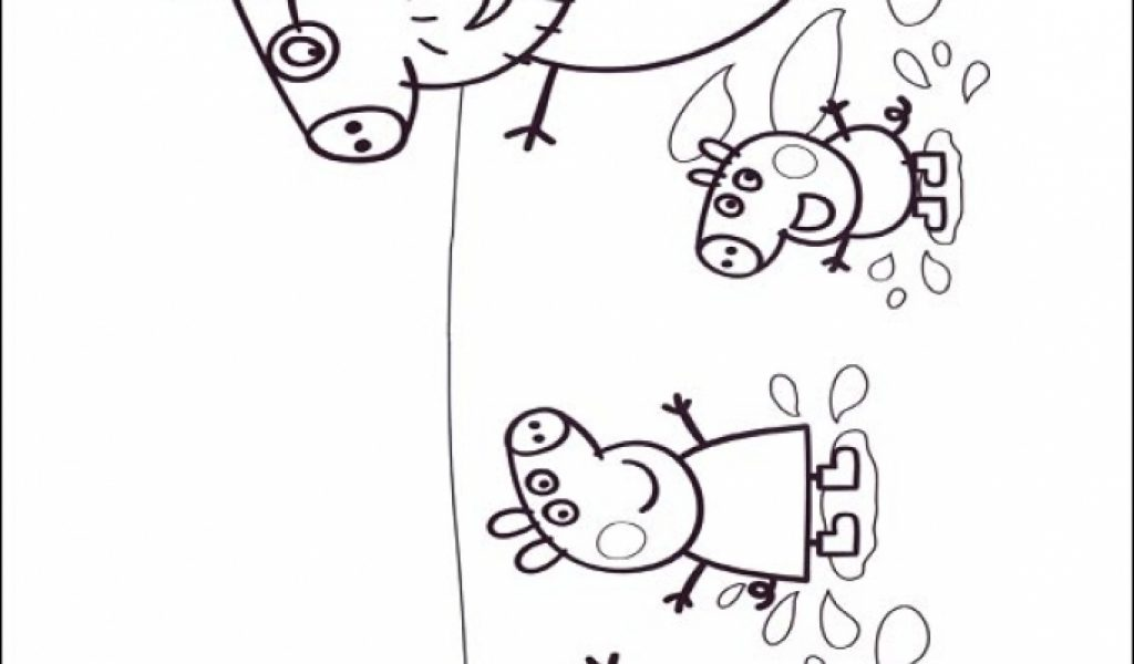 Get This Free Peppa Pig Coloring