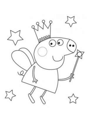 Free Peppa Pig Coloring Pages   67192