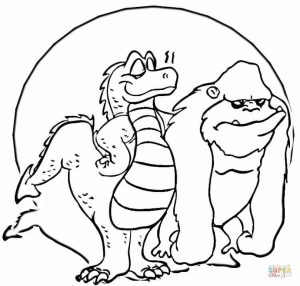 Free Picture of Godzilla Coloring Pages   mbYjg