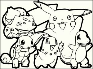 Free Pokemon Coloring Page to Print   48058