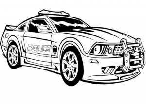 Free Police Car Coloring Pages   20627