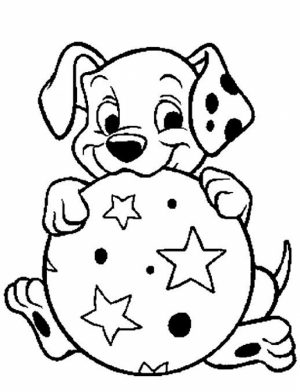 Free Preschool Puppy Coloring Pages to Print   T77HA