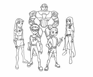 Free Preschool Teen Titans Coloring Pages to Print   OLoEv