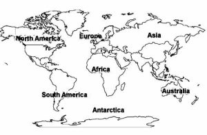 Free Preschool World Map Coloring Pages to Print   p1ivq