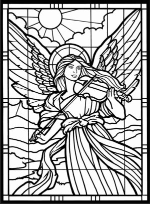 Stunning Free Printable Angel Coloring Pages Contemporary