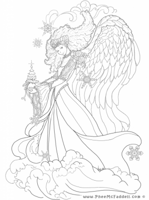 Free Printable Angel Coloring Pages for Adults   98CVB5