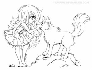 Free Printable Anime Wolf Girl Coloring Pages   67318