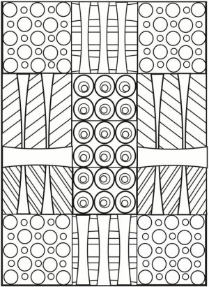 Free Printable Art Deco Patterns Coloring Pages for Grown Ups   dcty642