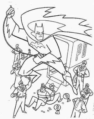 Free Printable Batman Coloring Pages DC Superhero   YTB27