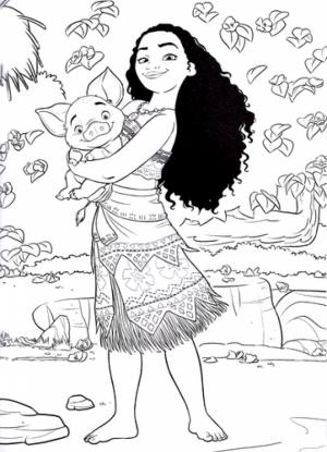 Free Printable Disney Moana Coloring Pages   AH81K