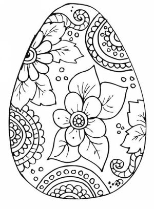 Free Printable Easter Egg Coloring Pages for Adults   86731