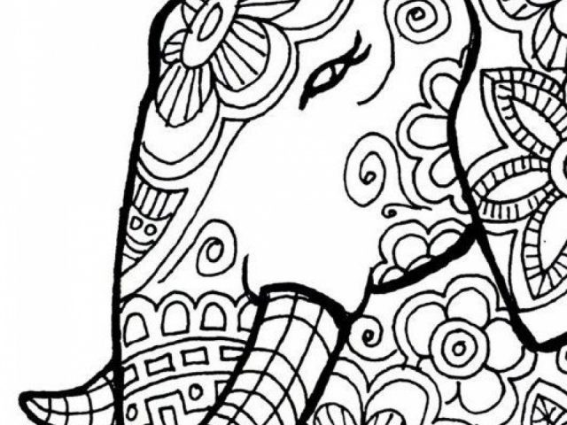 Coloring Pages For Adults Printable Elephant Get This Free