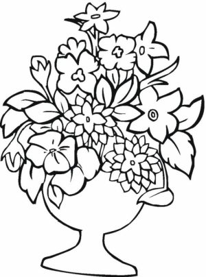 Free Printable Flower Coloring Pages   6720