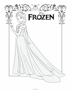 Free Printable Queen Elsa Coloring Pages Disney Frozen   5AV31