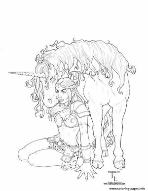 Free Printable Unicorn Coloring Pages for Adults   TR843