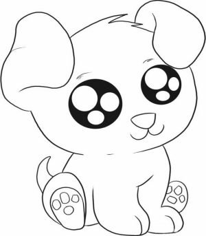 Free Puppy Coloring Pages for Toddlers   4JGO1