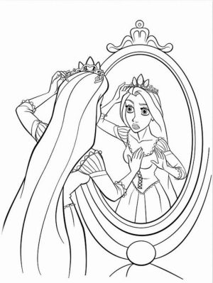 Free Rapunzel Coloring Pages to Print   HFGYX