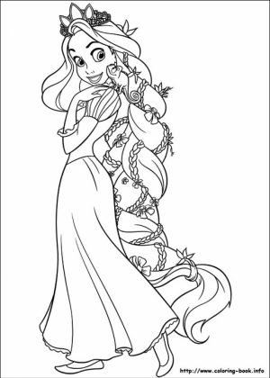 Free Rapunzel Coloring Pages   VQKC3