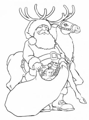 Free Reindeer Coloring Pages to Print Out   56105