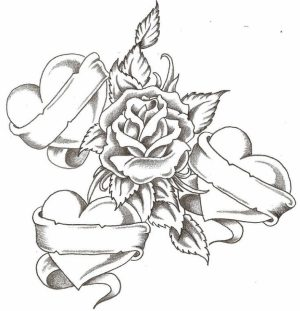 Free Roses Coloring Pages for Adults   4488
