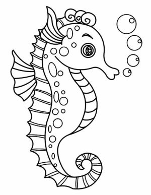 Free Seahorse Coloring Pages   47124