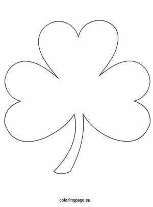 Free Shamrock Coloring Pages for Kids   yy6l0
