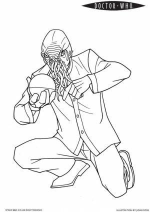 Free Simple Doctor Who Coloring Pages for Children   CM3XV